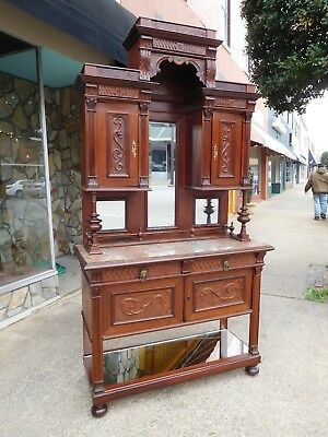 Outstanding English Mahogany Victorian Sideboard 19th Century