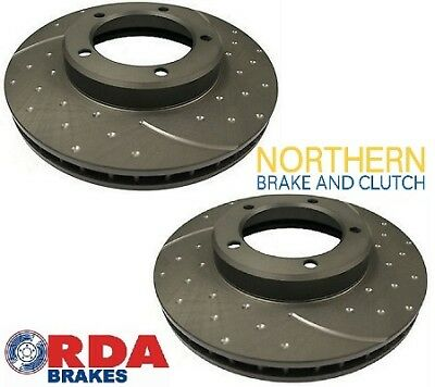 RDA FRONT DIMPLED/SLOTTED ROTORS suit 80 SERIES TOYOTA LANDCRUISER HZJ80R