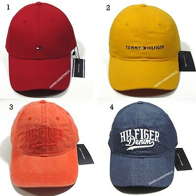 Tommy Hilfiger New Mens Baseball Cap/hat Red White Yellow Beige  Nice Caps