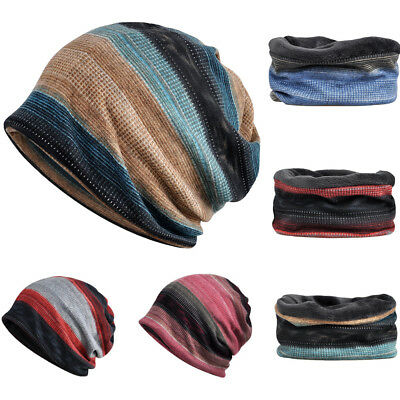 173214a2faa Plus Soft Velvet Slouchy Beanie Hat Warm Oversized Ski Cap Neck Scarf  Multi-Use