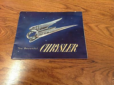 1951 Chrysler Windsor New Yorker Imperial Car Sales Brochure Poster Original