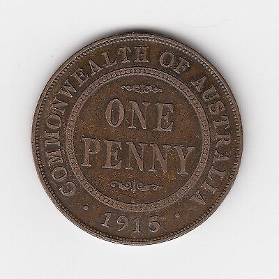 1915H Kgv Australia Penny - 6 Pearls - Great Lower Mintage Coin