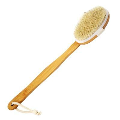 Premium Natural Bristle Bamboo Bath Shower  Body Brushes with long Wooden Handle
