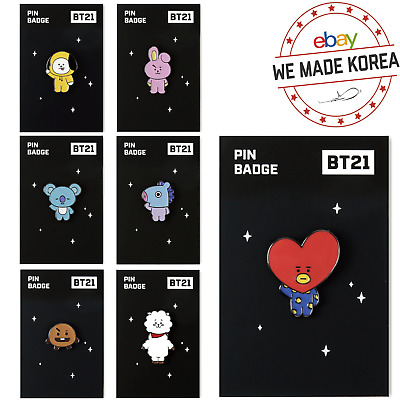 BTS BT21 Metal Badge Character Pin Brooch Monopoly Edition Official K-Pop Goods