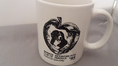 VINTAGE Bernese Mountain Dog BMDCA Coffee Mug National Specialty  Lot of 3