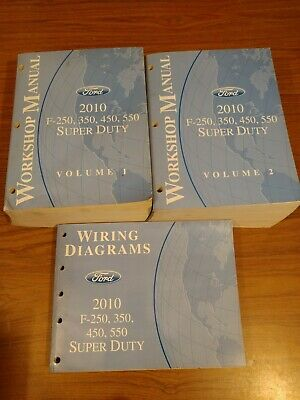 2010 Ford F-250, 350, 450, 550 S-Duty Service Workshop Manuals & Wiring Diagrams