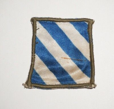 3rd Infantry Division Silk Theater Made Patch WWII US Army P8047