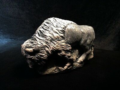 Western Mighty BULL Buffalo ~ Made of REAL St Helen's ashes! ~ FIGURINE Statue