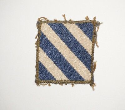 3rd Infantry Division Woven Silk Theater Made Patch WWII US Army P8048