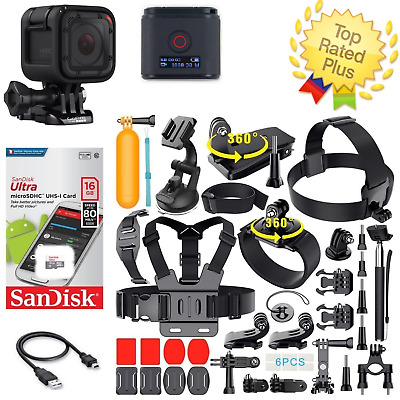 GoPro Hero Session + Sports Accessories Kit Complete Bundle (40+ PCS)