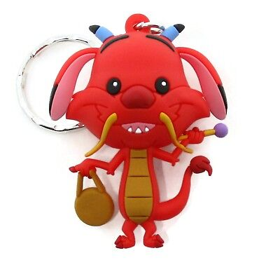 Disney Princesses Mulan 3D Figural Keyring Series 17 MUSHU KEYCHAIN Blind Bag