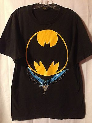 Vintage 1988 Black Batman T-Shirt DC Comics Dark Knight Joker 1980's • Large