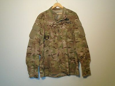 Us Army Combat Uniform Coat Multicam Ocp Flame Resistant Large Regular 1-Q