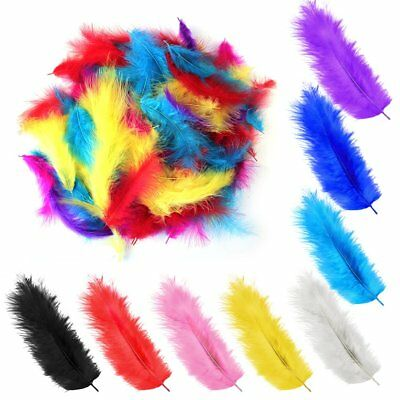 200 x Large Fluffy Marabou Feathers 12-15cm Card Making Crafts Embellishments