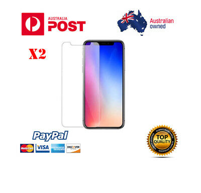 X2 Tempered Glass Screen Protector for iPhone X XS MAX  XR 5 6 6S 7 8 PLUS