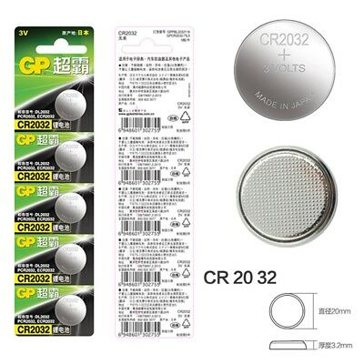 GP CR2032 Cell Battery Button  5 Pcs 3V CR2032 DL2032 Battery