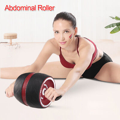 Fitness Ab Carver Pro Exercise Wheel Roller Six Pack Abs Workout Gym AU