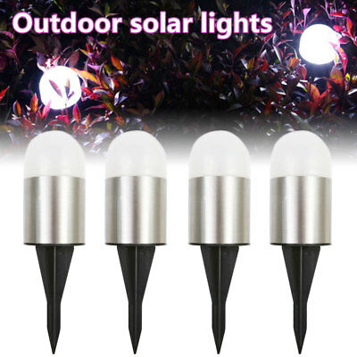 12x Solar Powered LED Post Ground Recessed Light Garden Outdoor Deck Path Lamp