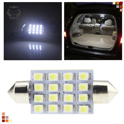 14Pcs LED Interior Package Kit 36mm Map Dome License Plate Lights For T10 White