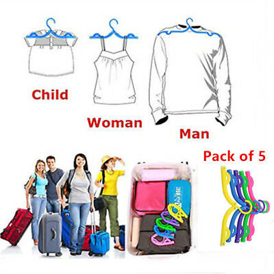 5Pack Folding Clothes Hangers Clothes Drying Rack For Travel clothes Hangers
