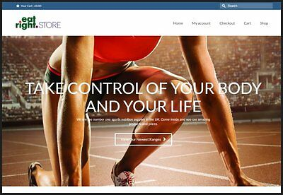 SPORTS NUTRITION Website|£104.40A SALE|FREE Domain|FREE Hosting|FREE Traffic