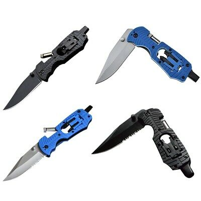 Multi-Function Folding Tools Outdoor Camping EDC Survival Knife With LED Lights