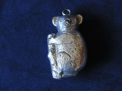 Silver Plated Baby's Rattle Teething Ring - Christening Gift Koala Bear  Rattle