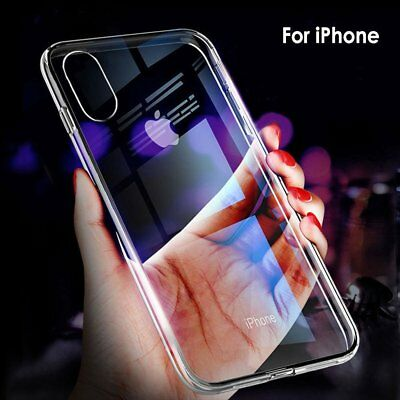 Case For Phone XS Max XR X Shockproof Soft Silicone Ultra Thin Clear Back Cover