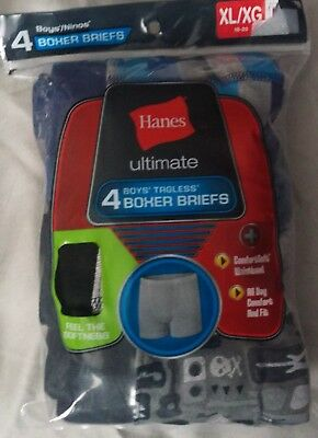 Boys Hanes Ultimate Dyed Boxer Briefs 4 Pack W/ComfortSoft® Waistband XL