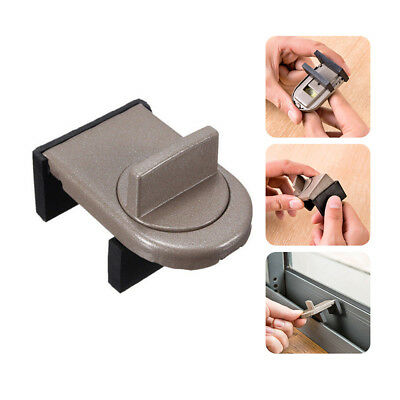 1pc Security Sliding Door Window Lock Safety Lock Sliding Sash Stopper For Kid