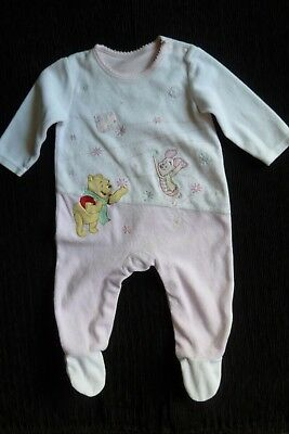 Baby clothes GIRL 3-6m Disney Pooh Bear,Piglet pink velour babygrow SEE SHOP!