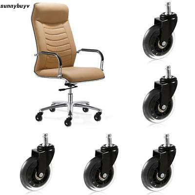 3 inch Office Chair Replacement Swivel Caster Wheels Kit 5 Pack RR3