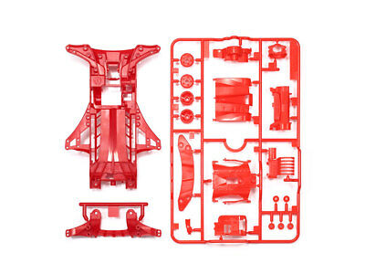 Tamiya Mini 4Wd Ricambi Fm-A Chassis Set (Red) - Item 95411