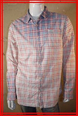 SCOTCH AND SODA Taille XXL - 2XL Superbe chemise manches longues homme bleu  roug b310aa851f15