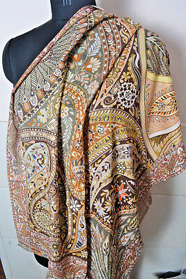 Designer Colors~ Antique Print ~ Ring Pashmina  Square Shawl ~ 13 Designs Choice