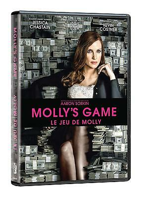 Molly's Game (DVD, 2018, Canadian, CONTAINS FRENCH)