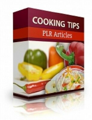 Cooking Tips PLR Articles PDF eBook + Master Resell Rights + 5 FREE eBooks