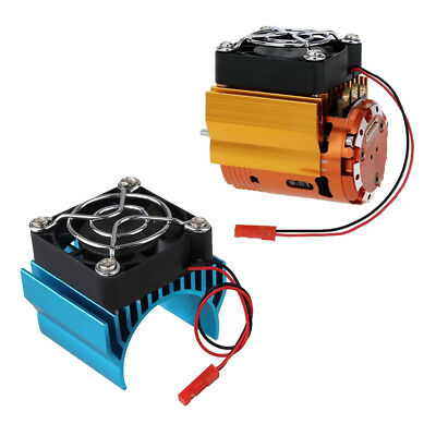 2x Motor Heat Proof Cover Heat Sink and 5V Cooling Fan 540 550 for 1/10 Car