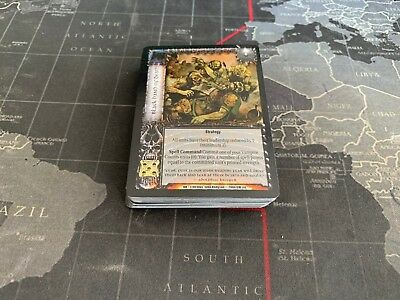 Death and Honour Almost complete full set 45/48 WarCry CCG Warhammer Fantasy TCG