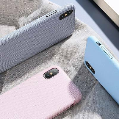 KISSCASE Cloth Sstripe Candy Shockproof Back Case for iPhone 5 6 7 8 Plus X Xs