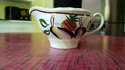 RARE BLUE RIDGE SOUTHERN POTTERIES, Pineapple Pears Creamer pie crust fluting