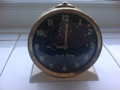 Vintage Smith Alarm Clock Made In Great Britain