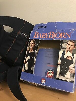 Baby Bjorn Infant Toddler Carrier Tartan Navy Walking