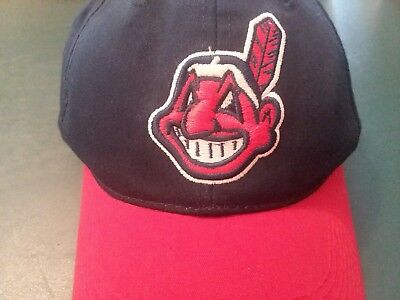 b4e1783469a Youth Cleveland Indians Team MLB OC Sports Hat Cap Chief Wahoo Hook   Loop