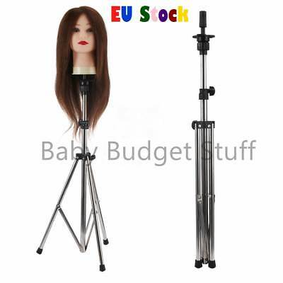 Adjustable Wig Head Tripod Stand for Hairdressing Training Mannequin Practice