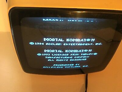 "Vintage Sears 9"" Black White Space Age TV Television 564.50190500 with original"