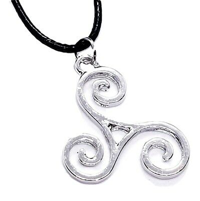 Triskele BDSM Symbol Pendant Kink Secret Symbol Cord Lace Necklace