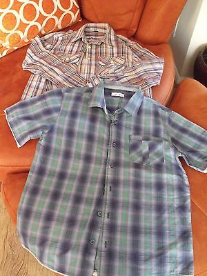 Two Boys Checked Shirts From M&S, Age 13 Yrs