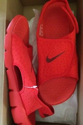 sale retailer 6fea7 e780f Nike Sunray Adjust 4 (PS GS)Youth Size 6 Y Sandals Red