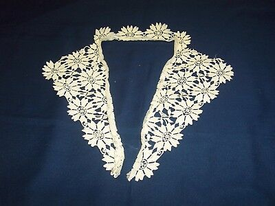"True Vintage White Lace Collar ~ 28"" x 9.5"" x 5.5"" ~ Flower Design"